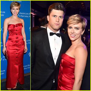 Scarlett Johansson & Colin Jost Join 'SNL' Cast at Museum Gala