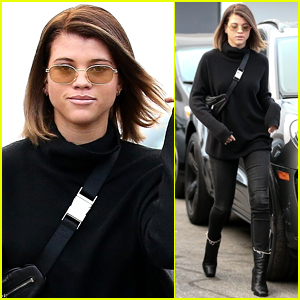 Sofia Richie Leaves Salon with New Brunette Hair!