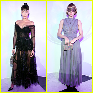 Bella Hadid & Haley Bennett Serve Fierce Looks at Dior Masquerade Ball 2018!