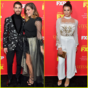 Darren Criss Gets Support From 'Glee' Co-Star Lea Michele at 'Versace' Premiere
