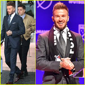David Beckham Announces New MLS Team in Miami, Son Brooklyn Joins Him
