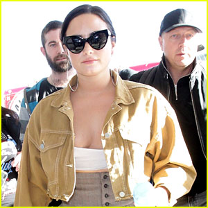 Demi Lovato Rocks Tiny Top While Catching Flight Out of LAX