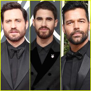 Edgar Ramirez, Darren Criss, & Ricky Martin Support Times Up at Golden Globes 2018