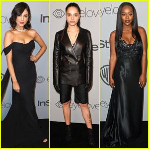 Eiza Gonzalez, Sasha Lane & Aja Naomi King Represent Time's Up at InStyle's Golden Globes After Party 2018!
