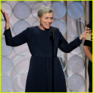 Frances McDormand Offers to Buy Fellow Nominees Tequila After Golden Globes Win! (Video)