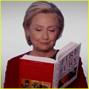 Hillary Clinton Makes a Surprise Cameo in 'Fire & Fury' Skit at Grammys 2018 - Watch Now!