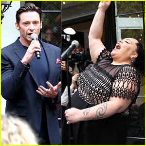 The Greatest Showman's Hugh Jackman & Keala Settle Entertain the Crowd at Gold Meets Golden Event!