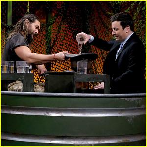 Jason Momoa & Jimmy Fallon Have 'Water War' on 'Tonight Show' - Watch Here!