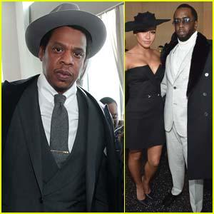 Jay-Z Joins Diddy & Cassie at Roc Nation's Grammys 2018 Brunch