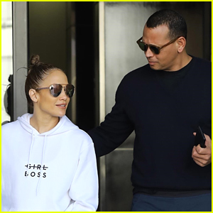 Jennifer Lopez & Alex Rodriguez Start Their Day Off at the Gym