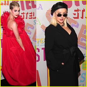 Katy Perry & Christina Aguilera Get All Dressed Up for Stella McCartney's Collection Launch