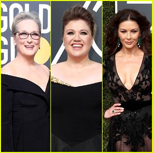 Kelly Clarkson Freaks Out After Meeting Meryl Streep & Catherine Zeta-Jones at Golden Globes 2018 - Watch!