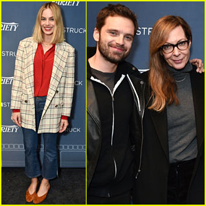 Margot Robbie Joins 'I, Tonya' Co-Stars Allison Janney & Sebastian Stan at Screening