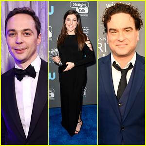 Mayim Bialik Celebrates Her Win With 'Big Bang Theory' Co-Stars Jim Parsons & Johnny Galecki at Critics' Choice Awards 2018!