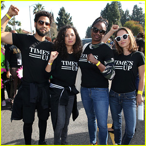 Natalie Portman, Jussie & Jurnee Smollett, & More March with Time's Up Movement
