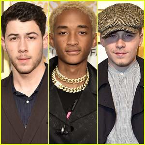 Nick Jonas, Jaden Smith, & Brooklyn Beckham Look So Handsome Celebrating Grammys 2018!
