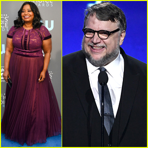 Octavia Spencer Joins Best Director Guillermo Del Toro at Critics Choice Awards 2018!