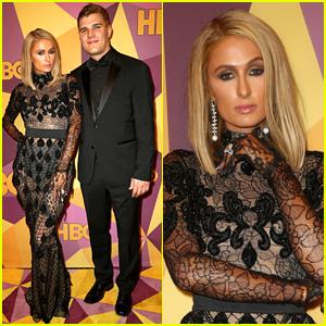 Paris Hilton & Chris Zylka Are Picture Perfect at Golden Globes 2018 Party
