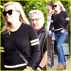 Reese Witherspoon Doesn't Seem to Notice Dustin Hoffman Outside the Spa!