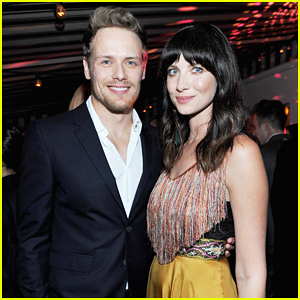 Sam Heughan & Caitriona Balfe Step Out for W Magazine's Pre-Golden Globes Party!