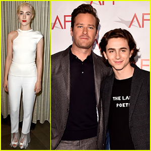 Saoirse Ronan, Timothee Chalamet, & Armie Hammer Are Globes Ready at AFI Awards 2018!