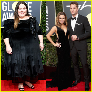 This Is Us' Chrissy Metz & Justin Hartley Walk the Red Carpet at Golden Globes 2018