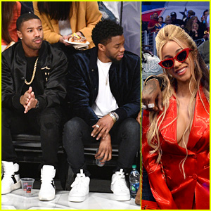 Michael B. Jordan, Chadwick Boseman, Cardi B & More Stars Attend NBA All-Stars Game 2018!