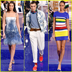 Bella Hadid, Anwar Hadid, & Joan Smalls Slay the Catwalk at Ralph Lauren Fashion Show