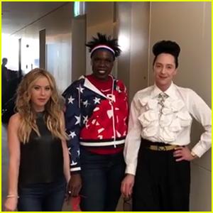Johnny Weir, Leslie Jones & Tara Lipinski Strut to Beyonce at the Winter Olympics 2018 - Watch Now!