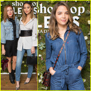 Brittany Snow, Jamie Chung & Georgie Flores Celebrate Levi's x Shopbop Collab