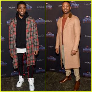 Chadwick Boseman & Michael B. Jordan Look Sharp at 'Black Panther' NYFW Event!