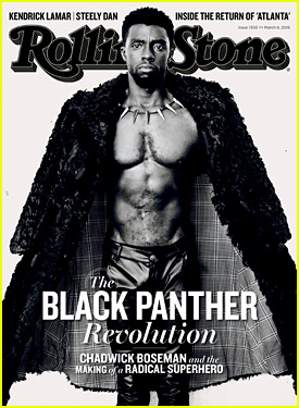 Chadwick Boseman Puts His Shirtless Body on Display for 'Rolling Stone'
