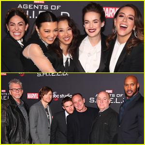Chloe Bennet & Co-Stars Celebrate 'Agents of S.H.I.E.L.D' 100th Episode!