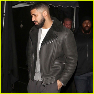 Drake Looks Hot While Stepping Out of His Yellow Ferrari!