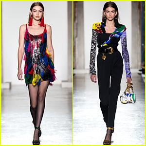 Gigi Hadid & Kaia Gerber Slay the Versace Runway in Milan
