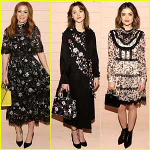 Isla Fisher, Natalia Dyer, & Lucy Hale Are Fierce in Floral at Kate Spade NYFW Presentation