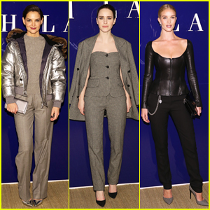 Katie Holmes, Rachel Brosnahan & Rosie Huntington-Whiteley Sit Front Row at Ralph Lauren NYFW Show!