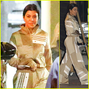 Kourtney Kardashian Rocks a Sporty Outfit to Church With Friends!