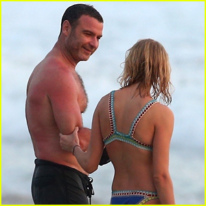 Liev Schreiber Hits the Beach with Girlfriend Taylor Neisen!