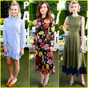 Margot Robbie & Rose Byrne Have a Garden Party For 'Peter Rabbit' Photo Call