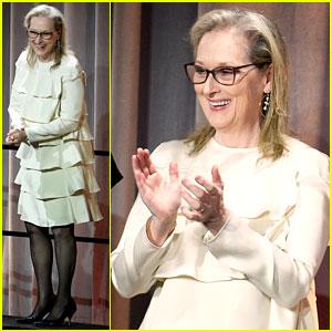 Meryl Streep Celebrates Oscar Nomination at Academy Awards Luncheon