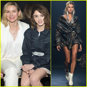 Naomi Watts & Natalia Dyer Watch Hailey Baldwin Walk in NYFW Show!