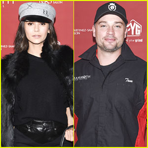 Former CW Stars Nina Dobrev & Tom Welling Battle It Out at Charity Celebrity Bowling Tournament