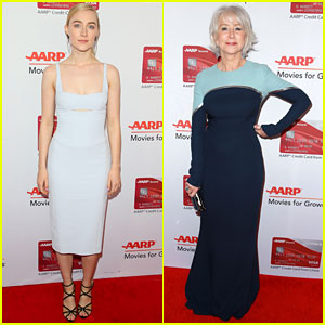 Saoirse Ronan & Helen Mirren Join Forces at AARP's Movies For Grownups Awards 2018