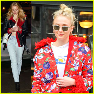 Sophie Turner Flashes Engagement Ring In New York City