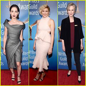Alison Brie, Greta Gerwig, Jane Lynch & More Walk the LA Red Carpet at WGA Awards 2018!