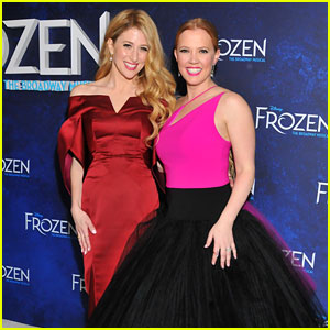 Caissie Levy & Patti Murin Celebrate Opening Night of 'Frozen' on Broadway!
