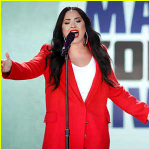 Demi Lovato Sings 'Skyscraper' at March For Our Lives (Video)
