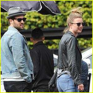 Emily VanCamp & Josh Bowman Couple Up for Lunch in Los Feliz
