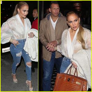Jennifer Lopez & Alex Rodriguez Meet Up After Busy Work Day!